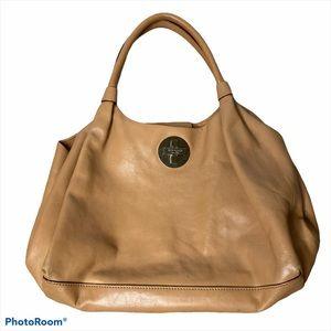 Kate Spade brown leather satchel hobo bag purse